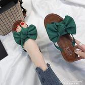 新款韓版百搭平底蝴蝶結人字拖鞋女時尚外穿夾腳沙灘涼鞋 黛尼時尚精品