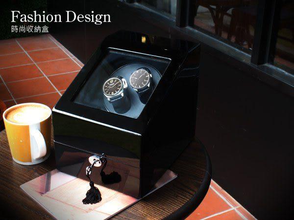 完全計時│自動機械錶收藏盒【自動上鍊盒2+3】鋼琴烤漆全黑收納錶盒 熱銷 (自動03-BB)