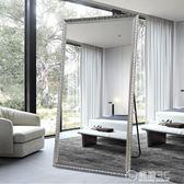 歐式試衣鏡穿衣鏡全身鏡壁掛服裝店鏡子臥室支架落地鏡可移動WD 電購3C