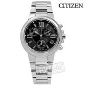 CITIZEN 星辰表 / FB1080-51E / XC 羅馬風情三眼計時光動能不鏽鋼手錶 黑色 34mm