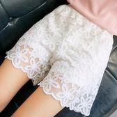 蕾絲安全褲可外穿短褲女夏防走光打底褲