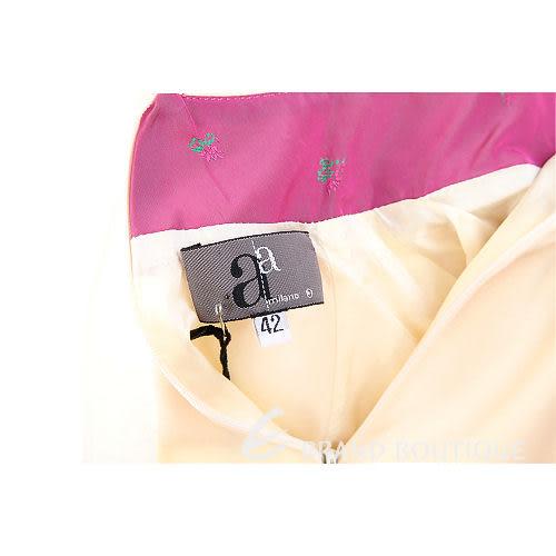 AAMILANO 米色拼接無袖立領上衣 0510475-03