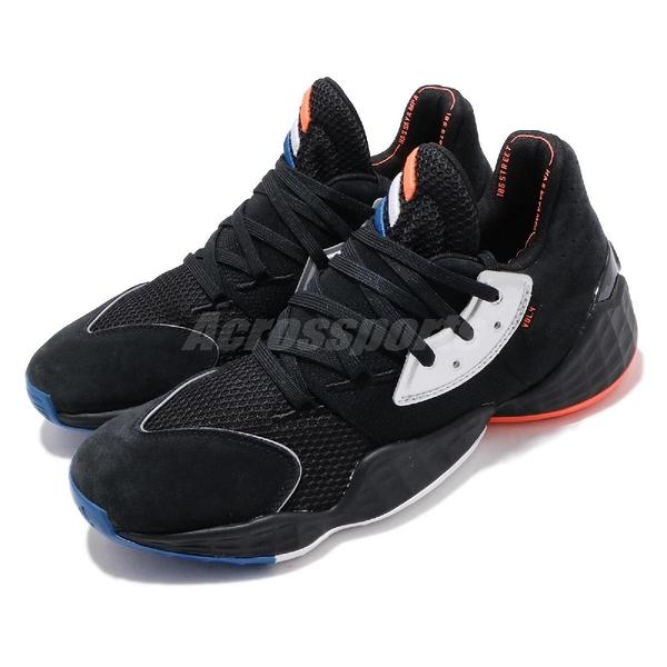 adidas 籃球鞋 Harden Vol.4 GCA Barbershop 黑 橘 男鞋 四代 哈登 運動鞋【ACS】 EF1204