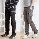 簡約潮流英文造型工作褲2色