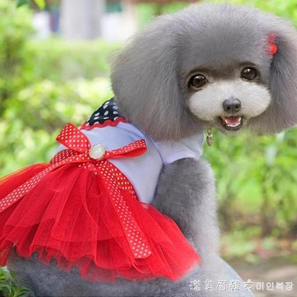 寵物比熊泰迪狗狗衣服春季小型犬夏季薄款公主裙子可愛萌系女母狗-完美