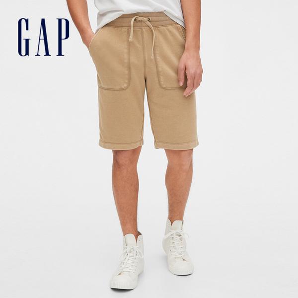 Gap 男裝 簡約風格鬆緊休閒短褲 579717-卡其色