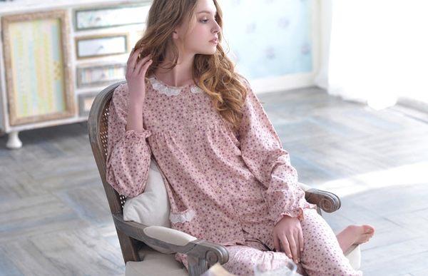 夏季新品純棉睡衣女甜美家居服全棉休閒夏天薄款套裝 -swe0023