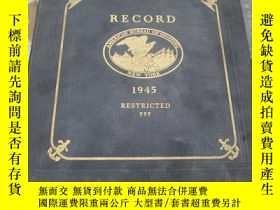 二手書博民逛書店【造船學,二戰史料】Record罕見of the America