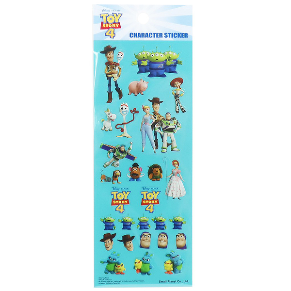 Small Planet 日本製透明造型貼紙 手帳貼 裝飾貼 迪士尼 玩具總動員4 薄荷綠_DP23315