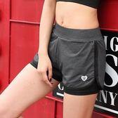 運動短褲 戶外運動短褲跑步排汗速干 假兩件健身房瑜伽服大碼 歐來爾藝術館