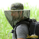 迷彩蚊帳帽子-抗UV折疊收納防蜂/防蚊蟲遮陽漁夫帽J7567 JUNIPER