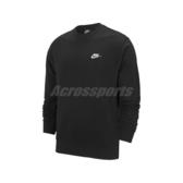 Nike 長袖T恤 NSW Club Crew 黑 白 男款 大學T 運動休閒 【ACS】 BV2667-010