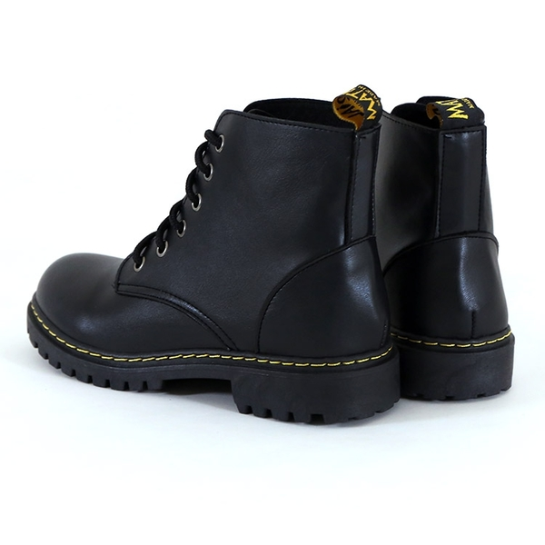 女款 7704 台灣製造6孔素面百搭柔軟 馬丁靴 戰鬥靴 軍靴 情侶鞋 短靴 中筒靴 59鞋廊