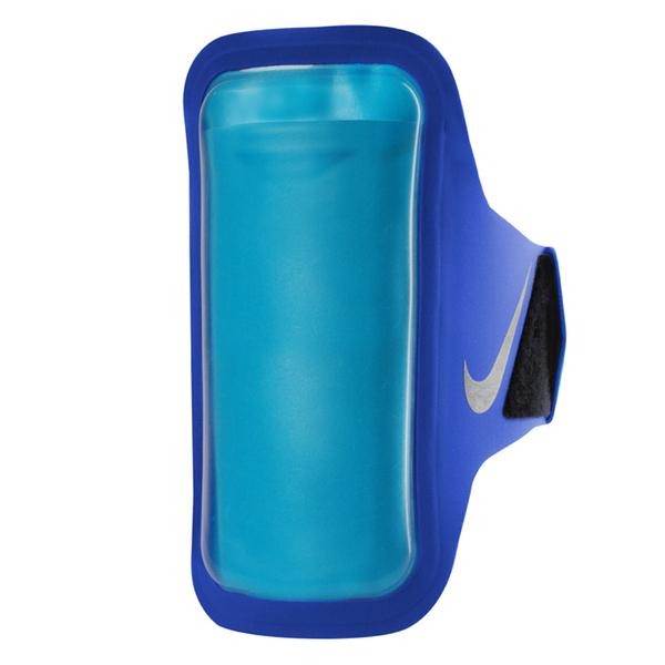 Nike Arm Band [NRN67453OS] 運動 慢跑 自行車 夜跑 反光 輕量 手機 臂包 5吋 藍 銀