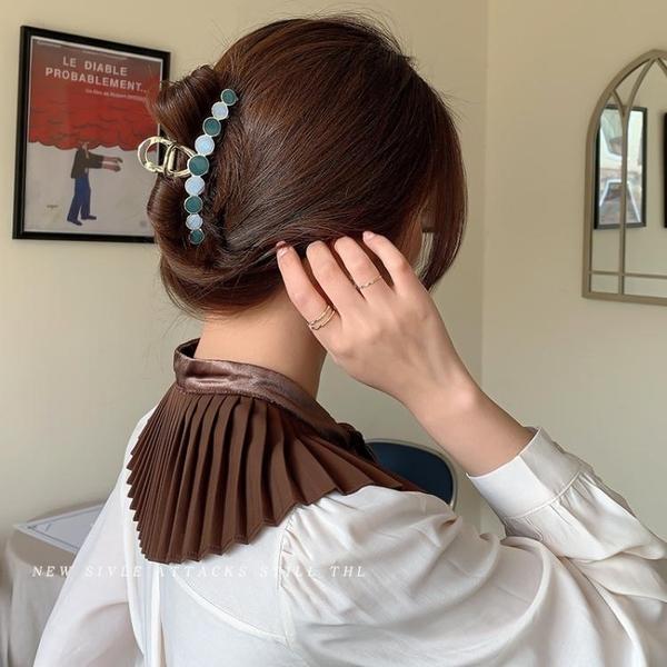 夾子頭飾金屬髮夾后腦勺髮卡抓夾大號髮抓優雅氣質韓國鯊魚夾卡子 小天使