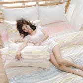[SN]#U058#細磨毛天絲絨5x6.2尺標準雙人床包被套四件組-台灣製