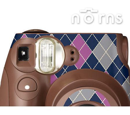 Norns MINI7S 專用FUJIFILM日本富士原廠拍立得相機機身貼紙【Choco argyle款】Norns