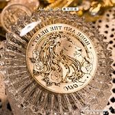 獅子玫瑰火漆印章愛情囍印喜帖封印定制手賬復古壓紋印鑒新品 黛尼時尚精品