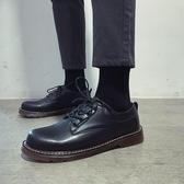 2020新款春季男鞋黑色休閒皮鞋男士韓版大頭馬丁百搭商務正裝潮鞋 蘿莉小腳丫