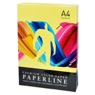 【奇奇文具】PAPER LINE 175/80P/A4 正黃 進口影印紙 (500張/包)