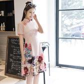 旗袍洋裝旗袍少女學生日常改良時尚中長款文藝連衣裙中國民國風女裝  SQ13211『毛菇小象』