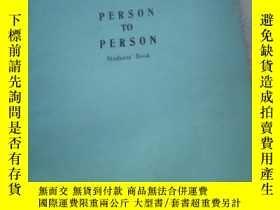 二手書博民逛書店PERSON罕見TO PERSONY21714