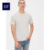 Gap男裝 復古水洗短袖圓領口袋T恤 440773-本白