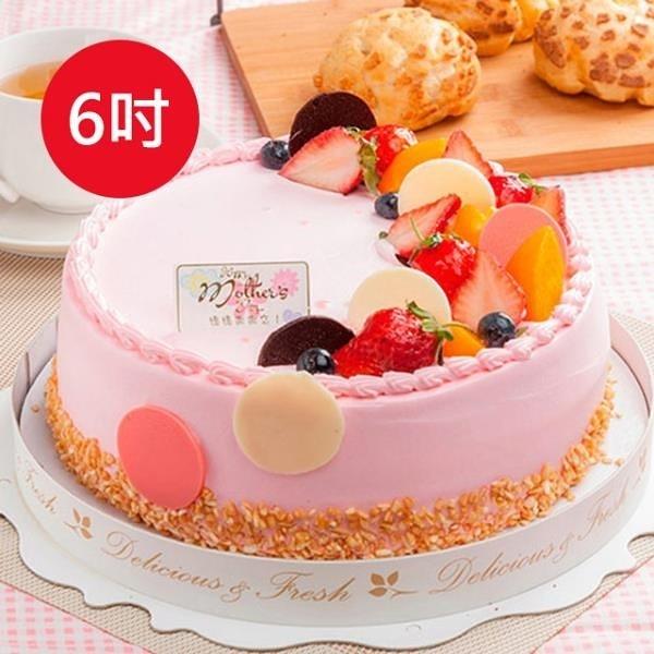 【南紡購物中心】預購-樂活e棧-生日快樂造型蛋糕-初戀圓舞曲蛋糕(6吋/顆,共1顆)