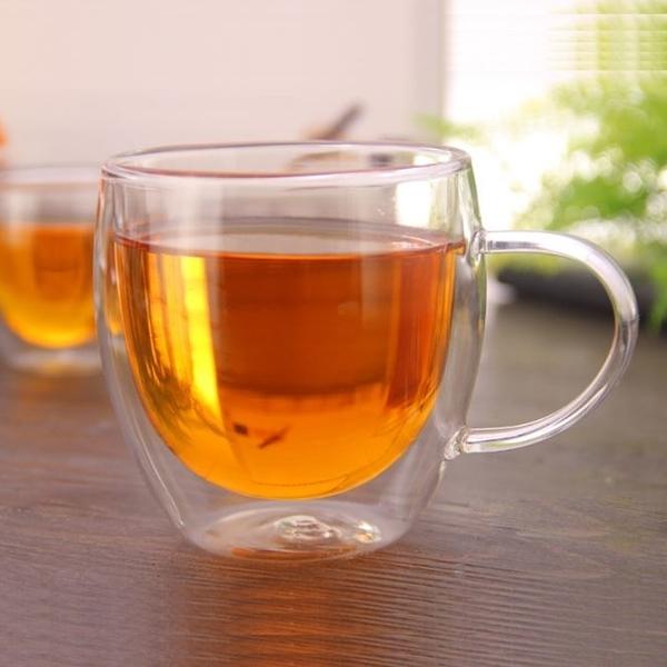 [拉拉百貨]有把手杯250ml 雙層玻璃杯 真空保溫杯 保溫隔熱杯 高硼矽 星巴克 交換禮物 生日