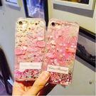 【SZ25】iPhone7/8 plus手機殼 流沙火烈鳥 iPhone 6s plus手機殼 全包軟邊 iPhone7/8保護套