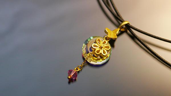 gold 黃金 墜飾 金飾 保證卡 重量0.37錢 贈皮項鍊 [ gp 028 ]
