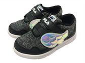 『雙惠鞋櫃』★ FILA ★可愛小翅膀 F 閃亮 網布透氣 慢跑運動休閒鞋 ★ (7-J852R-041) 黑