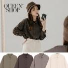 Queen Shop【01023703】純色排釦素面雪紡襯衫 四色售*現+預*