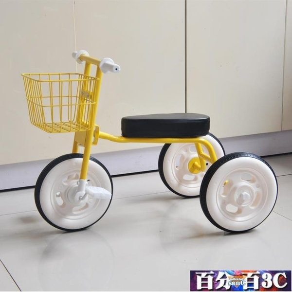 兒童三輪車2-3-4歲寶寶腳踏車幼童自行車輕便嬰兒手推車簡易單車 WJ百分百