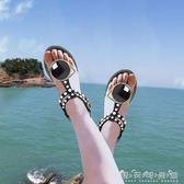 度假海邊涼鞋女夏學生波西米亞沙灘鞋夾趾平底羅馬百搭潮igo 晴天時尚館