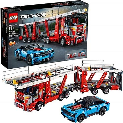 LEGO 樂高  Technic Car Transporter 42098 Toy Truck and Trailer Building Set, New 2019 (2493 Pieces)