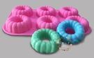 心動小羊^^DIY矽膠模具肥皂香皂模型矽膠皂模藝術皂模具香磚擴香石6孔環狀甜甜圈曲奇模
