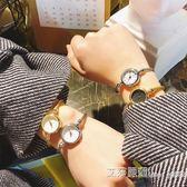 日系卡通可愛簡約手鐲圓形手錶復古百搭學生休閒少女小巧氣質腕錶 艾莎嚴選