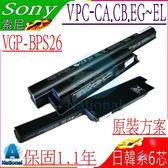 SONY 電池(保固最久)-索尼 電池- BPS26,VGP-BPS26A,VGP-BPL26,VPCCA,VPCCB,VPCEG,VPCEH,VPCEJ,VPCEL 系列