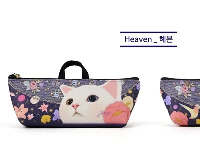 Jetoy,甜蜜貓 提袋式 筆袋_Heaven