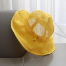 兒童遮陽帽 寶寶遮陽帽夏季薄款嬰兒帽子網眼大檐漁夫帽1-3歲2男女兒童防曬-Ballet朵朵