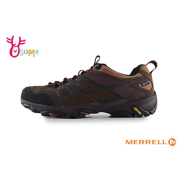 【MERRELL特價再下殺79折】成人男款 GTX防水速乾 黃金大底 登山越野運動鞋_ML46621 H8393#咖啡