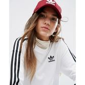 KUMO SHOES-現貨 ADIDAS 男女 RELAXED STRAPBACK 老帽 酒紅 CJ7570