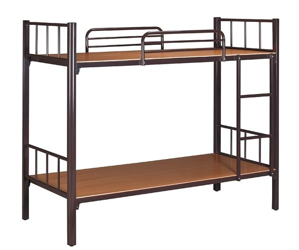HY-889-1   扇型管雙層床(咖啡色)-不含蚊帳桿
