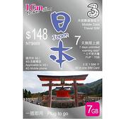 I Can Travel SIM日本7天無限上網卡