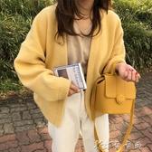 針織外套 韓版針織衫女寬鬆百搭長袖慵懶風上衣網紅毛衣開衫V領小外套 卡卡西