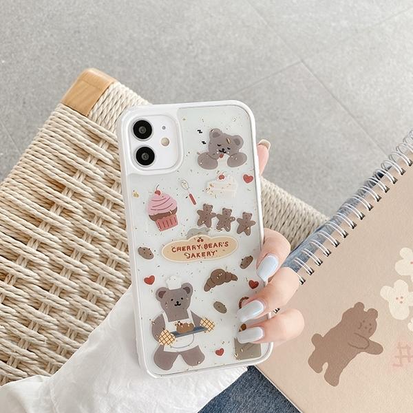 iPhone12 蘋果手機殼 預購 可掛繩 熊熊派對 矽膠軟殼 i11/iX/i8/i7/SE