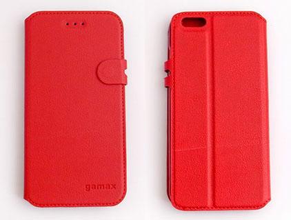 gamax Apple iPhone 6 Plus/iPhone 6S Plus(5.5吋) 磁扣荔枝紋側翻手機保護皮套 商務二代