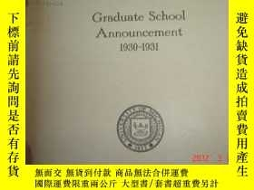 二手書博民逛書店Graduate罕見school announcement密歇根