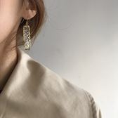 甜酸復古幾何耳夾無耳洞女韓國氣質潮人耳環長款耳墜網紅超仙耳飾
